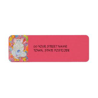 Etiqueta rosada del remite de Ganesh Etiqueta De Remite