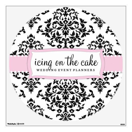 Etiqueta rosada dulce de la pared de la guinda del vinilo