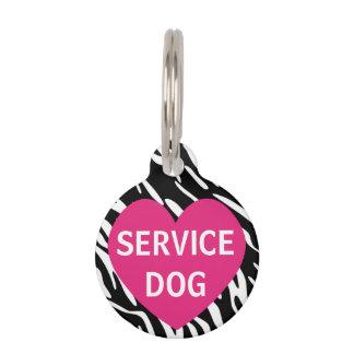 Etiqueta rosada linda del mascota del perro del placa para mascotas