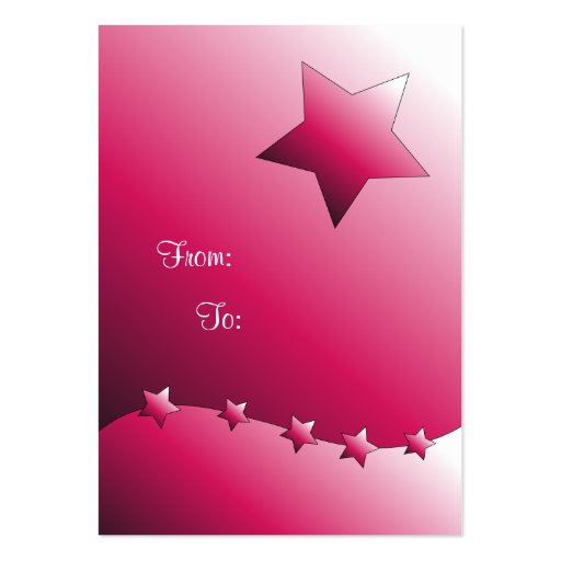 Etiqueta rosada linda del regalo de la estrella tarjetas de visita grandes