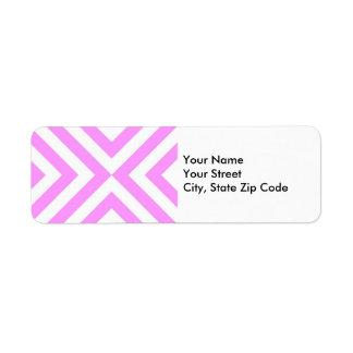 Etiqueta rosada y blanca del remite de los galones etiqueta de remite