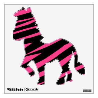 Etiqueta rosada y negra del KRW de la cebra de la