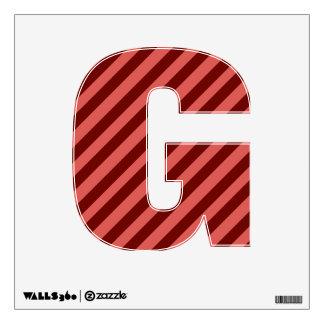 Etiqueta rosada y roja de la pared de G de la Vinilo Adhesivo