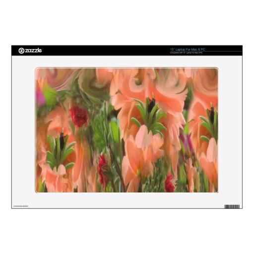 Etiqueta rosada y verde amelocotonada del iPad del Calcomanías Para 38,1cm Portátiles