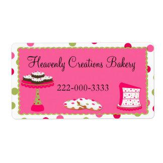 Etiqueta rosada y verde de encargo caprichosa de l etiqueta de envío
