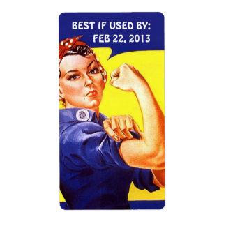 Etiqueta Rosie que cuece de enlatado casero con Etiquetas De Envío