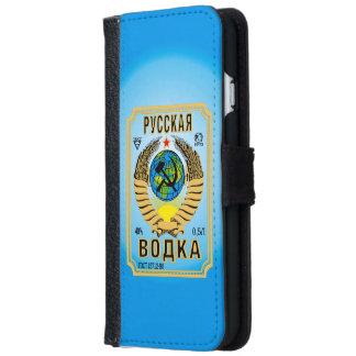 Etiqueta rusa de la botella de la marca de la carcasa de iPhone 6