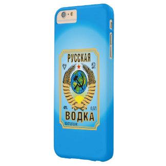 Etiqueta rusa de la botella de la marca de la funda de iPhone 6 plus barely there