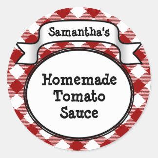 Etiqueta salsa de tomate de la guinga o del