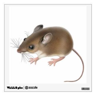 Etiqueta salvaje de la pared del ratón de ciervos