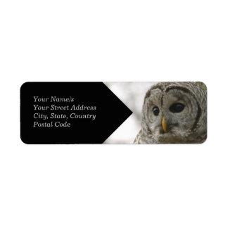Etiqueta salvaje del remite de Avery de la cara Etiqueta De Remite