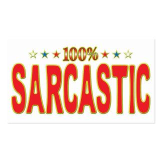 Etiqueta sarcástica de la estrella tarjetas de visita
