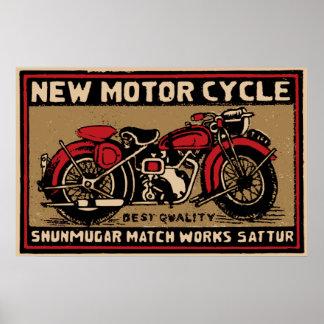 Etiqueta segura del partido de la nueva moto impresiones