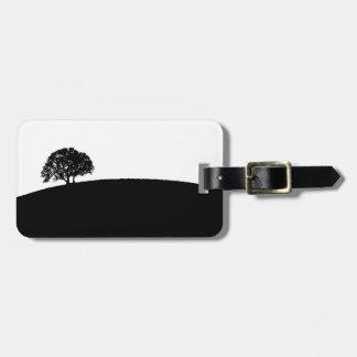 Etiqueta simple del equipaje del árbol etiqueta de maleta