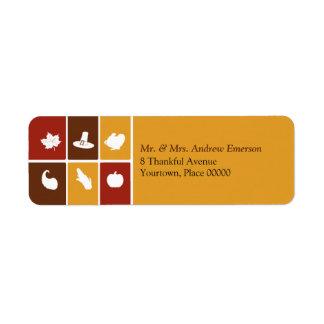 Etiqueta simple del remite de los iconos de la acc etiquetas de remite