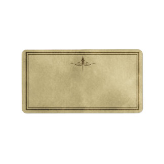Etiqueta simple media del boticario de la eleganci etiquetas de dirección