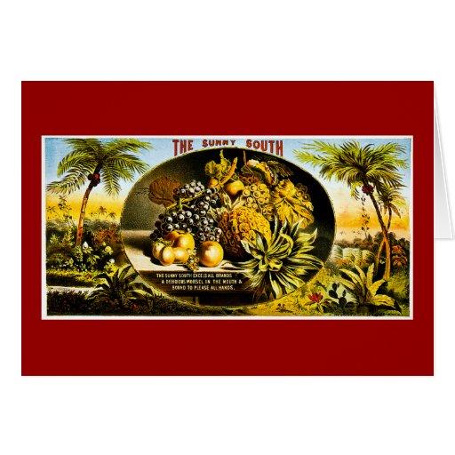 Etiqueta soleada 1874 del cigarro del vintage del  tarjeta