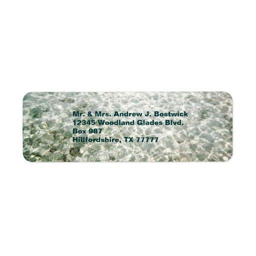 Etiqueta soleada de Avery del agua Etiqueta De Remite