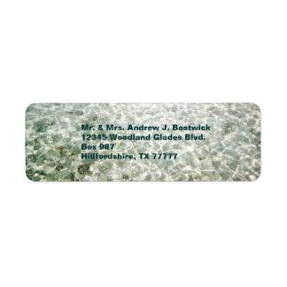Etiqueta soleada de Avery del agua Etiquetas De Remite