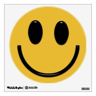 Etiqueta sonriente de la cara de la diversión vinilo decorativo