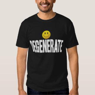 Etiqueta sonriente degenerada W Camisas