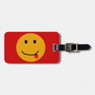 Etiqueta sonriente del equipaje de la cara etiquetas para equipaje