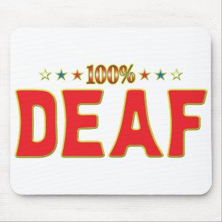 Etiqueta sorda de la estrella tapete de ratones