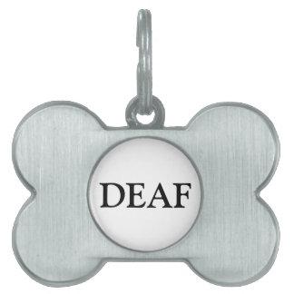 Etiqueta sorda del mascota - negro placas de mascota