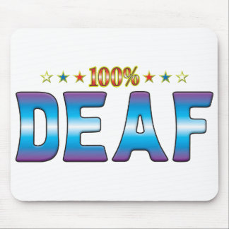 Etiqueta sorda v2 de la estrella alfombrilla de ratón