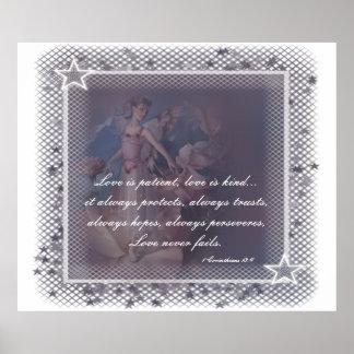 Etiqueta suave 1 del ángel - impresión adaptable poster