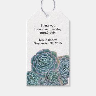 Etiqueta suculenta del regalo del favor del boda etiquetas para regalos