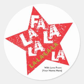 Etiqueta tachonada estrella del La del La del Fa