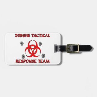 Etiqueta táctica del equipaje del equipo de la