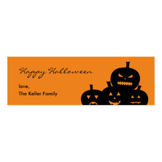 Etiqueta tallada del regalo de Halloween de las ca Tarjetas De Visita Mini