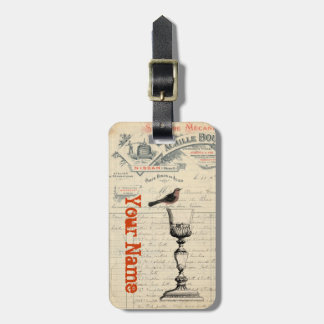 Etiqueta temática del bolso del vino francés del v etiquetas maleta