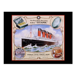 Etiqueta titánica del jabón postal
