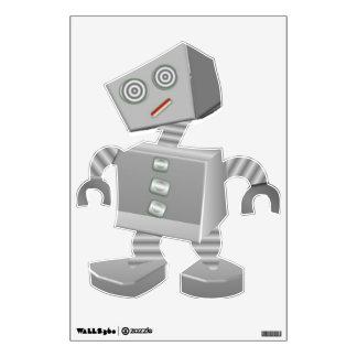 Etiqueta tonta de la pared del robot
