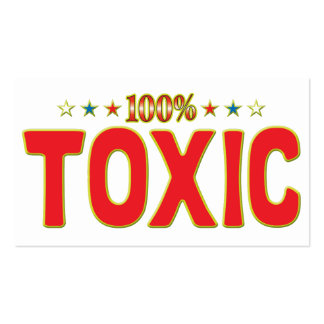 Etiqueta tóxica de la estrella plantilla de tarjeta de visita