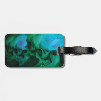 Etiqueta tóxica del equipaje de 4 cráneos