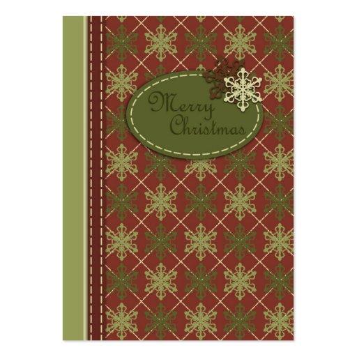 Etiqueta tradicional del regalo del navidad plantilla de tarjeta de negocio