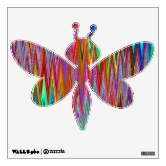 Etiqueta tribal de la pared de la libélula del zig vinilo adhesivo