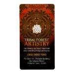 Etiqueta tribal del arte del bosque del tigre etiquetas de envío