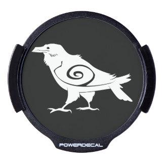 Etiqueta tribal del poder del cuervo del alcohol sticker LED para ventana