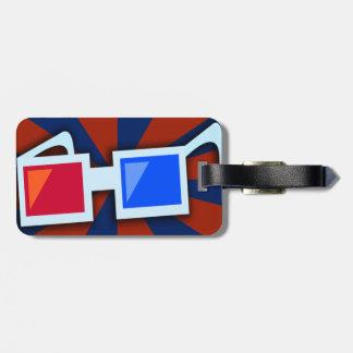 Etiqueta tridimensional del equipaje de los vidrio etiqueta para maleta