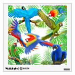 Etiqueta tropical de la pared de la selva del Maca