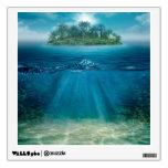 Etiqueta tropical de la pared de Seabottom de la Vinilo