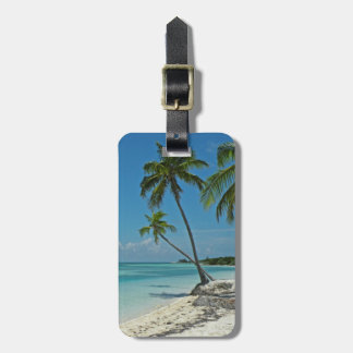 Etiqueta tropical del equipaje de la playa de la i etiqueta para equipaje