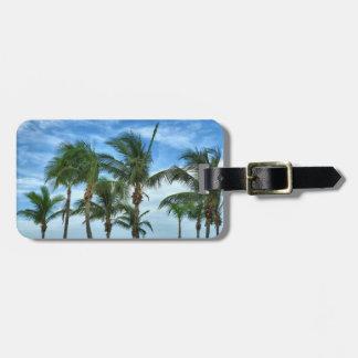 Etiqueta tropical del equipaje de la tarde etiquetas de maletas