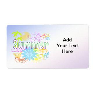 Etiqueta tropical del verano etiquetas de envío