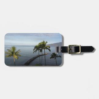 Etiqueta tropical hawaiana del equipaje de la esce etiqueta para maleta